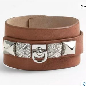 Juicy Couture Leather Cuff Collier Chien Bracelet